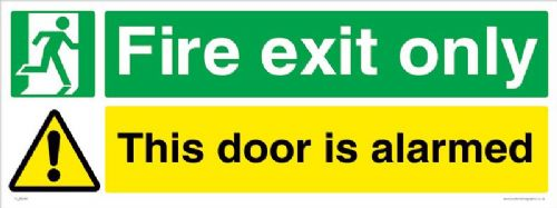Fire Exit Door alarmed